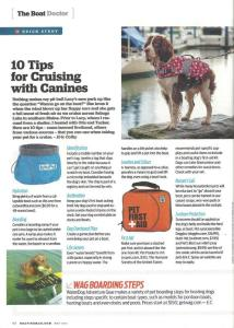 Tips  for Cruising with Canines